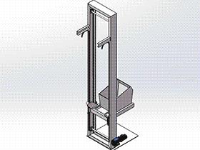 提升机3D图纸 H652 SPSH1003 solidworks 3D图纸 三维模型