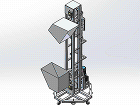 小型提升机 SPSH1004 solidworks 3D图纸 三维模型