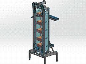 方盒提升机 SPSH1005 solidworks 3D图纸 三维模型