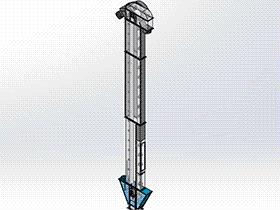 铲斗式提升机 SPSH1006 solidworks 3D图纸 三维模型