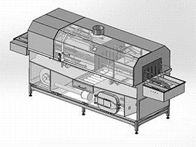 清洗机流水线 SPWB1001 solidworks  3D图纸 三维模型