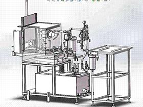 汽车零部件清洗机 旋转清洗+烘干一体设备 SPWB1004 solidworks  3D图纸 三维模型