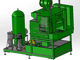 三工位高压清洗机 SPWB1005 solidworks  3D图纸 三维模型