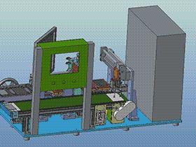 刮胶清洗机 清洗液为酒精 k575 SPWB1009 solidworks  3D图纸 三维模型