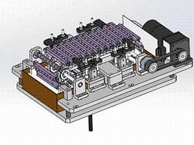 链条式洗涤机传动机构 SPWB1012 solidworks 3D图纸 三维模型
