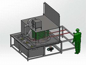 塑料筐式洗衣机喷雾机 SPWB1014 solidworks 3D图纸 三维模型