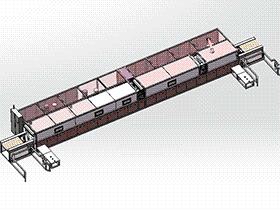 隧道式清洗干燥机 SPWB2002 solidworks格式 3D图纸 三维模型