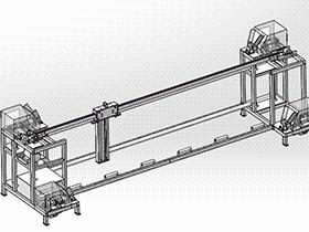 自动化清洗机、洗布机 带工程图 SPWB2003 solidworks格式 3D图纸 三维模型