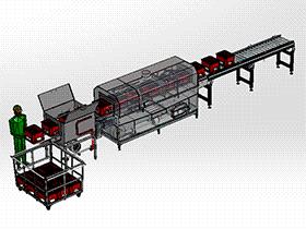 周转筐清洗机(洗箱机、洗筐机) SPWB2004 solidworks格式 3D图纸 三维模型