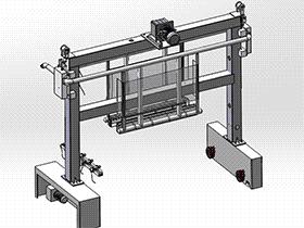 压滤机配套滤板清洗机 带工程图 SPWB2006 solidworks格式 3D图纸 三维模型