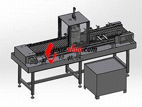 不锈钢链板清洗线 SPWB2008 solidworks格式 3D图纸 三维模型