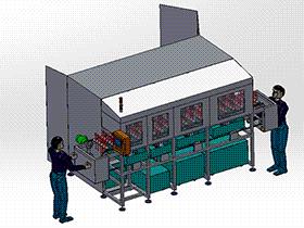 不锈钢链板清洗线 SPWB2010 solidworks格式 3D图纸 三维模型