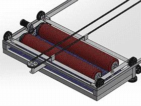 太阳能板清洗系统 SPWB2013 solidworks格式 3D图纸 三维模型