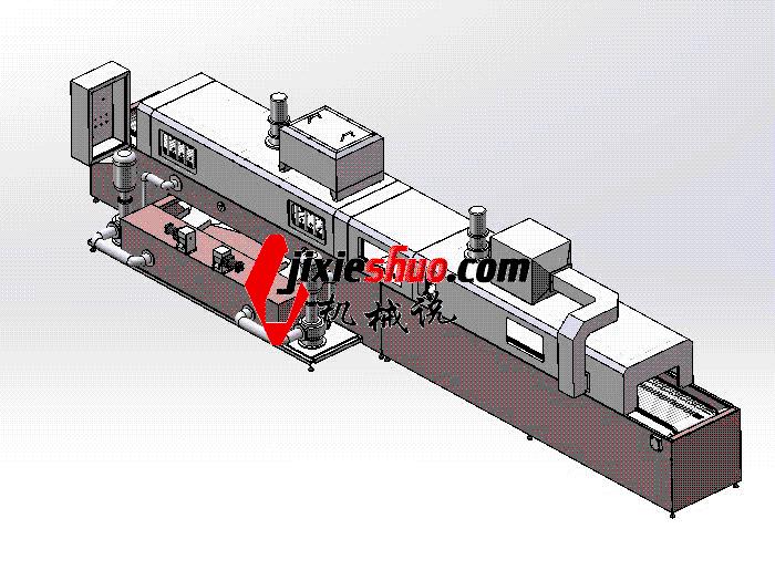 通过式清洗机 SPWB2022 solidworks格式 3D图纸 三维模型