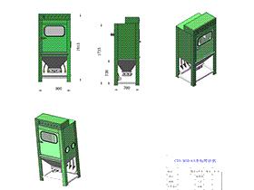 非标喷砂机 SPWC1001 solidworks  3D图纸 三维模型