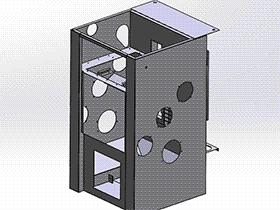 喷砂机外壳 SPWC2002 solidworks  3D图纸 三维模型