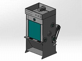 履带式自动喷砂机 SPWC2003 solidworks  3D图纸 三维模型