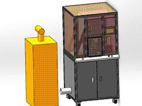 电机定子硫化清洗设备 SPWE1002 solidworks  3D图纸 三维模型