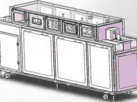 电子板卡(PCB板)清洗机 SPWE1004 solidworks  3D图纸 三维模型