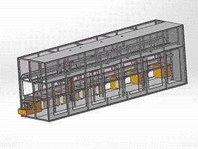 光伏电池制绒清洗机 SPWE1005 solidworks  3D图纸 三维模型