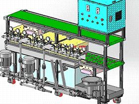 手机外壳研磨后清洗设备 SPWE1006 solidworks  3D图纸 三维模型