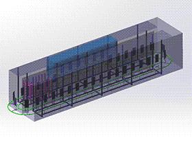 石墨烯电池板板材清洗机设备 SPWE1007 solidworks 3D图纸 三维模型