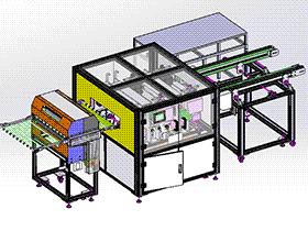 自动化PCB隔板清洗设备(带工程图) SPWE2002 solidworks 3D图纸 三维模型