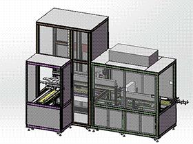 凹光栅超声波清洗机 spwf2003 solidworks 3D图纸 三维模型