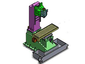 _立式数控加工中心钻攻铣床 TMCA1001 solidworks  3D图纸 三维模型