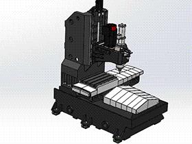 立式加工中心 数控铣床 BT40垂直数控轴铣床 TMCA1002 solidworks  3D图纸 三维模型