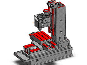 tmca2002_640立式加工中心 齿轮主传动 solidworks 3D图纸 三维模型