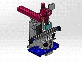 立式铣床机床 TMCC1001 通用格式 3D图纸 三维模型