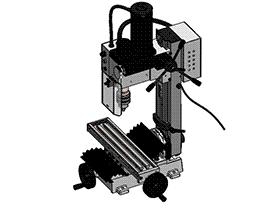 小铣床 TMCC2001 solidworks格式 3D图纸 三维模型