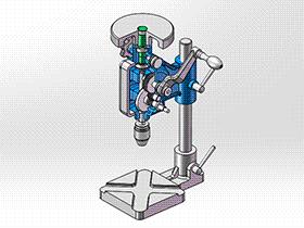 手动钻 TMDA1003 solidworks  3D图纸 三维模型