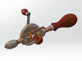手动钻 TMDA2002 solidworks  3D图纸 三维模型