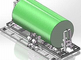 罐体抛光机 TMHA1005 solidworks  3D图纸 三维模型