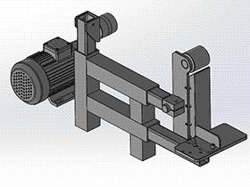 砂带机 tmhb2001 solidworks 3D图纸 三维模型