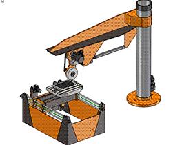 5+1轴数控CNC平面磨场结构 THMC1001 solidworks  3D图纸 三维模型
