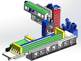 平面导轨磨床磨削机床 THMC1002 solidworks  3D图纸 三维模型