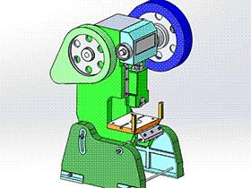 40吨曲柄压力机冲床 tmjb1001 solidworks 3D图纸 三维模型