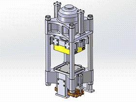 四柱液压机 tmjb1004 solidworks 3D图纸 三维模型