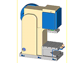 偏心式压力机 tmjb1007 solidworks 3D图纸 三维模型