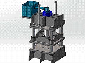 300吨液压机 tmjb1009 solidworks 3D图纸 三维模型