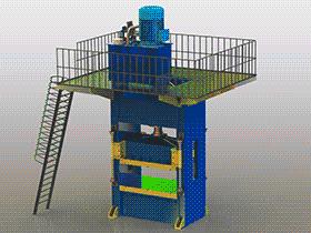 300吨压力机tmjb1010 solidworks 3D图纸 三维模型