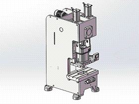 250T冲床模型 tmjb1011 solidworks 3D图纸 三维模型