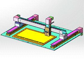 桌面型微型龙门架移动式三轴雕刻机 TMKE1001 solidworks 3D图纸 三维模型