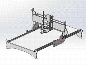 龙门架移动式3轴雕刻机 TMKE1003 solidworks 3D图纸 三维模型