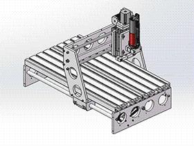 桌面雕刻机 TMKE1005 solidworks 3D图纸 三维模型