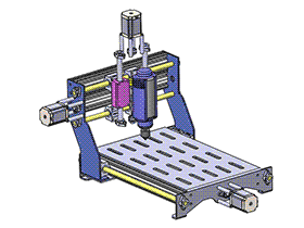 三轴雕刻机 TMKE1006 solidworks 3D图纸 三维模型