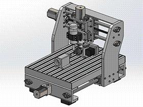 4轴雕刻机 TMKE1007 solidworks 3D图纸 三维模型